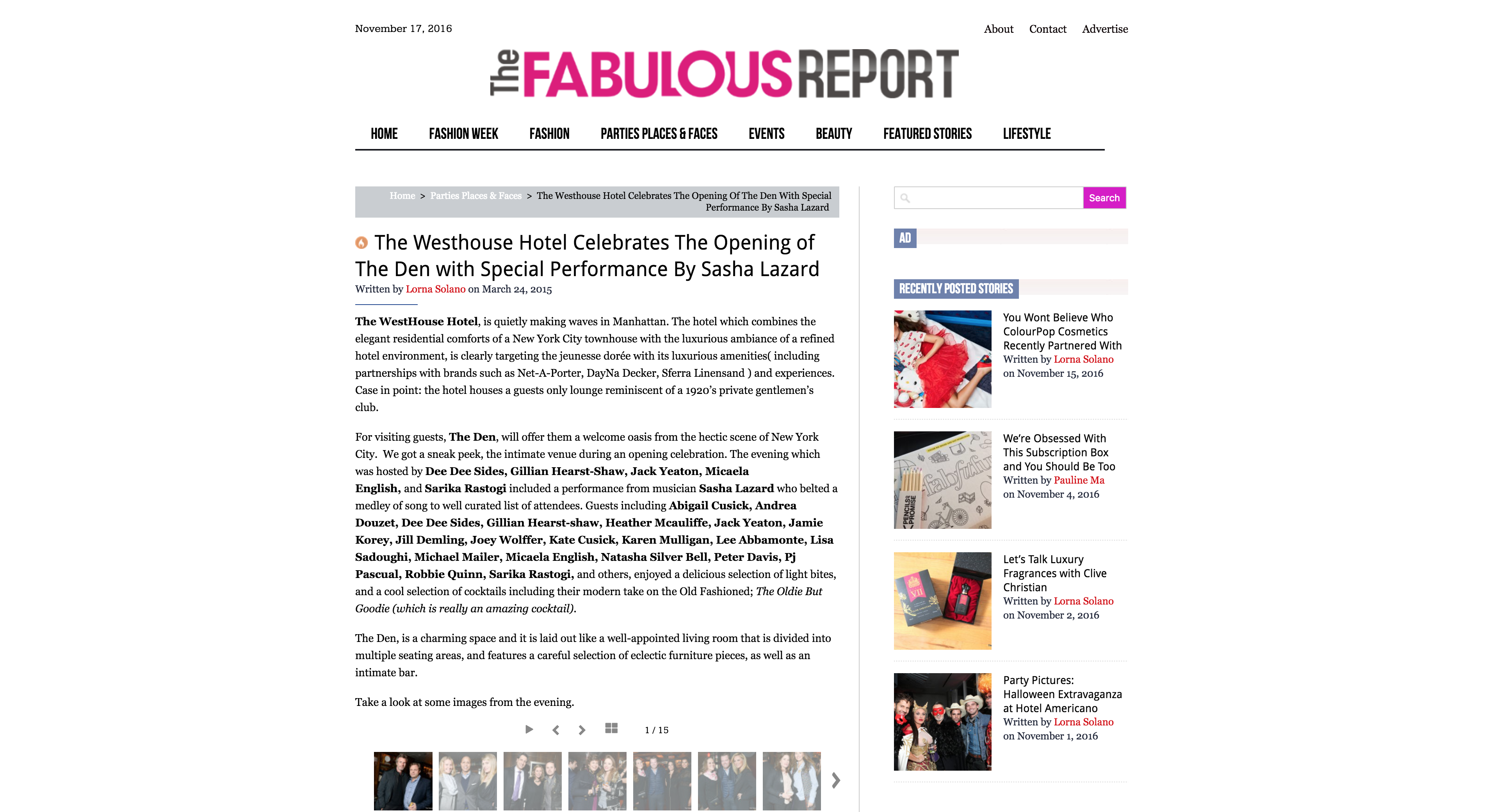 The Fabulous Report